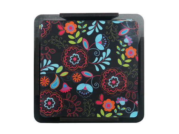 S/6 Coaster with Stand Acrylic - Paper Flower