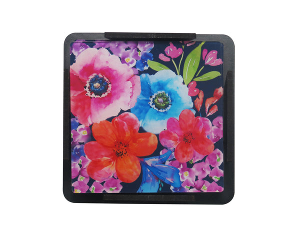 S/6 Coaster with Stand Acrylic - Poppy