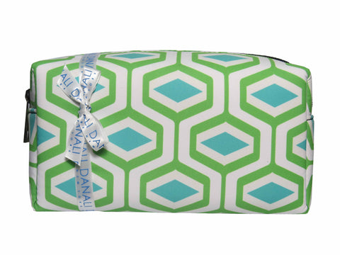 Diamond Green Cosmetic Bag