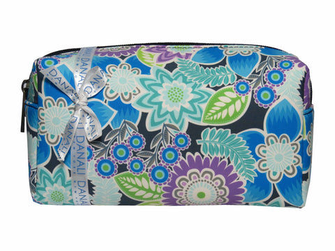 Flora Blue Cosmetic Bag