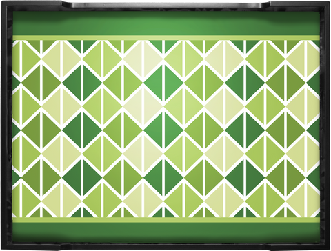 Triangle Green Tray (Sm/Med/Lg)