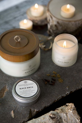 Heritage Black Birch Soy Wax Candle