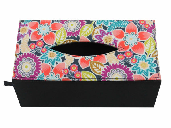 Flora Multicolor Tissue Box Sleeve