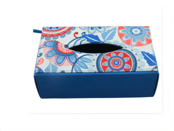 Dot Flower Tissue Box Sleeve