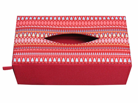 Drop Coral Tissue Box Sleeve
