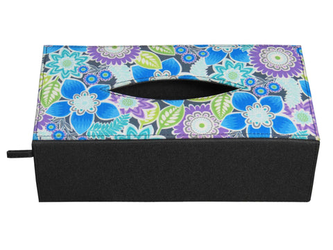 Flora Blue Tissue Box Sleeve