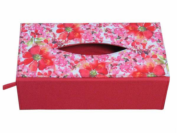 Pink Blossom Tissue Box Sleeve