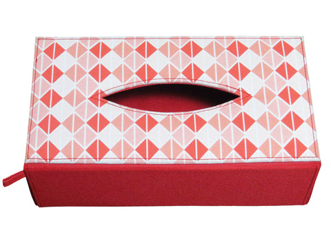 Triangle Coral Tissue Box Sleeve