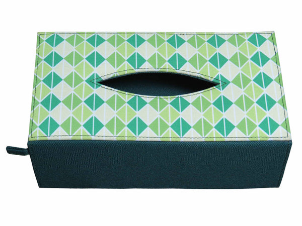 Triangle Green Tissue Box Sleeve