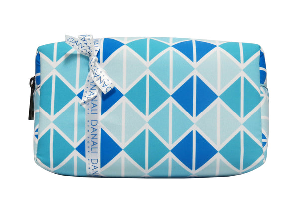 Triangle Blue Cosmetic Bag