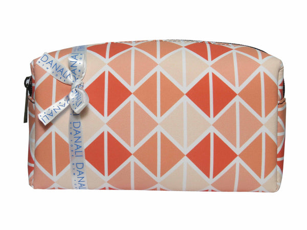 Triangle Coral Cosmetic Bag