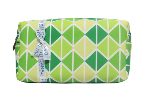 Triangle Green Cosmetic Bag