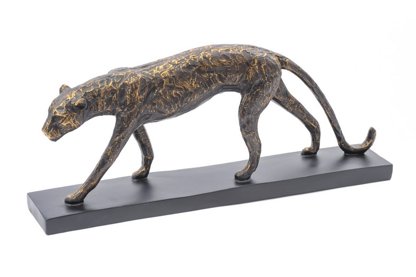 Stalking Panther In Antique Bronze Finish