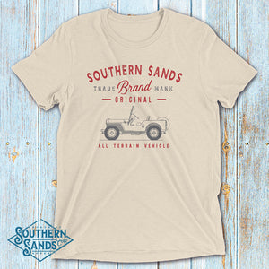 Original All Terrain Vehicle Willys Jeep Short Sleeve T-Shirt - Southern-Sands-T-Shirts