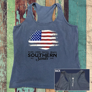 Old Glory - Comfort Colors Tanks - Southern-Sands-T-Shirts