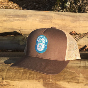 Snapback Trucker Brown & Khaki Hat - Southern-Sands-T-Shirts