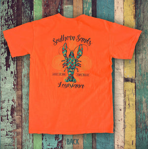 Louisiana Crawfish-Fleur de Lis - Southern-Sands-T-Shirts