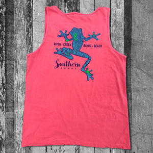 Climbing Tree Frog - Comfort Colors Tanks - Southern-Sands-T-Shirts