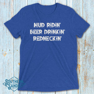 Mud Ridin' Premium Short sleeve t-shirt - Southern-Sands-T-Shirts