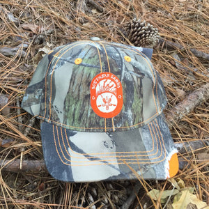 Hunting Hat - Orange and Distressed Camo Hat - Southern-Sands-T-Shirts