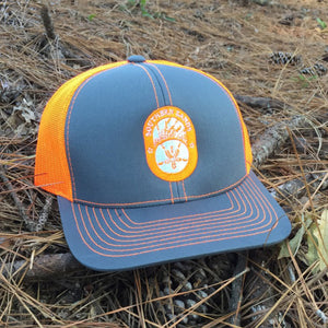 Snapback Trucker Orange & Graphite Hat - Southern-Sands-T-Shirts