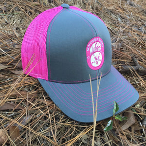 Snapback Trucker Pink & Graphite Hat - Southern-Sands-T-Shirts