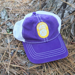 Snapback Vintage Trucker Purple & Gold Hat - Southern-Sands-T-Shirts