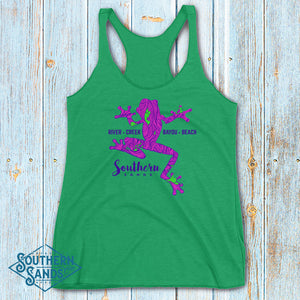 Climbing Treefrog Racerback Tank - Southern-Sands-T-Shirts