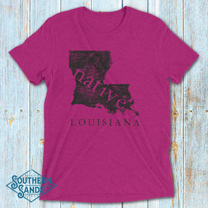 Louisiana Native Premium T-Shirt - Southern-Sands-T-Shirts