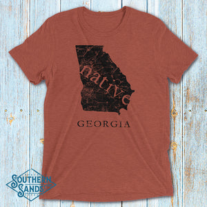 Georgia Native Premium T-Shirt - Southern-Sands-T-Shirts