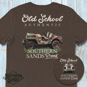 Old School Authentic Willys T Shirt - Southern-Sands-T-Shirts