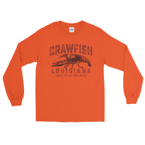 Vintage Crawfish Long Sleeve T-Shirt - Laissez les bon temps rouler - Southern-Sands-T-Shirts