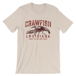 Vintage Crawfish Short Sleeve T Shirt - Laissez les bon temps rouler - Southern-Sands-T-Shirts