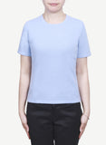 Women 12-Gauge Round Neck Short Sleeves Pullover  LRSP1056