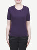 Women 16-Gauge Round Neck Short Sleeves Pullover   LRSP1245