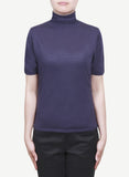 Women 16-Gauge Turtle Neck Short Sleeves Pullover  LTSP1246