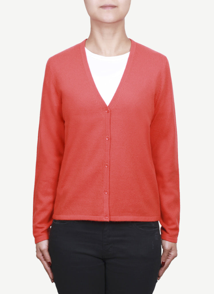 Women 12-Gauge V Neck Cardigan   LVC1054