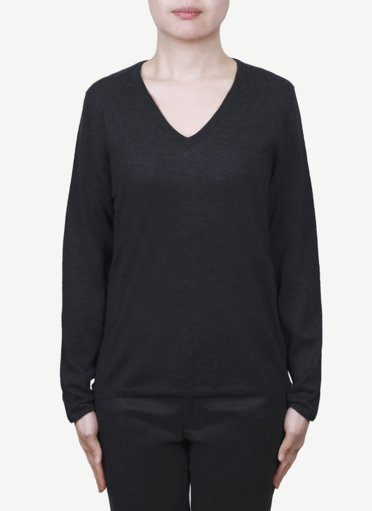 Women 16-Gauge V Neck Pullover  LVP1243