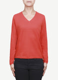 Women 12-Gauge V Neck Pullover  LVP434