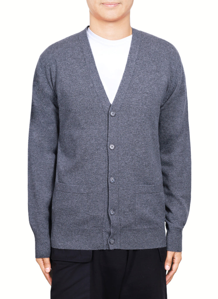 Men 12-Gauge V Neck Cardigan  MVC461