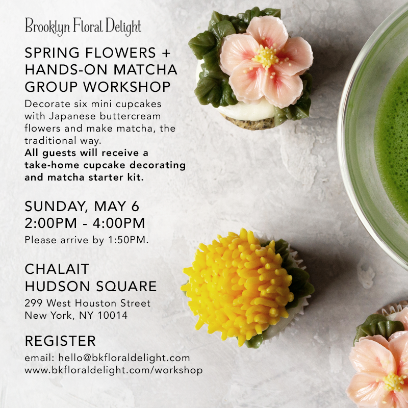 Spring Buttercream Flower and Hands-On Matcha Workshop!
