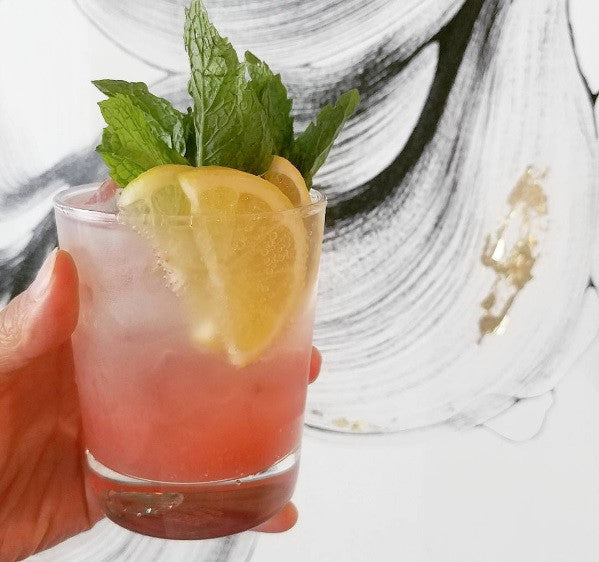 Feeling hot in this summer heat? How about a refreshing rhubarb shrub.
