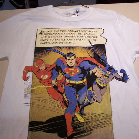OUTLET Offer - At Last T-shirt (DC - Batman - Flash - Superman)
