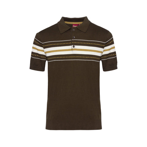 Tanner Knit Polo Shirt - Merc