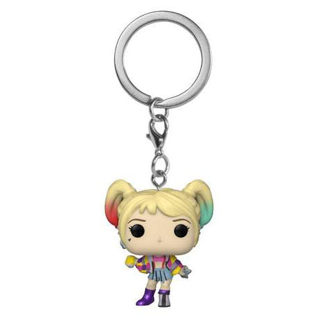 Harley Quinn Caution Tape Pocket Pop Keyring (Birds of Prey - DC)