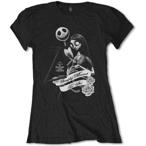 Simply Meant To Be Ladies T-shirt (Disney - Nightmare Before Christmas)