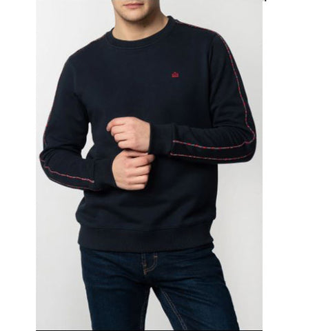 Norbury Tartan Piping Sweatshirt - Merc