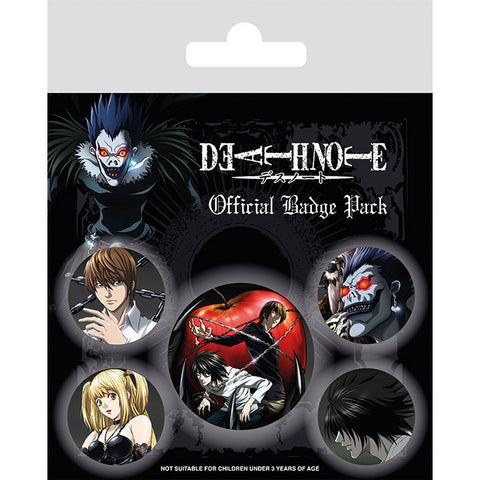 Death Note Badge Pack (Anime)