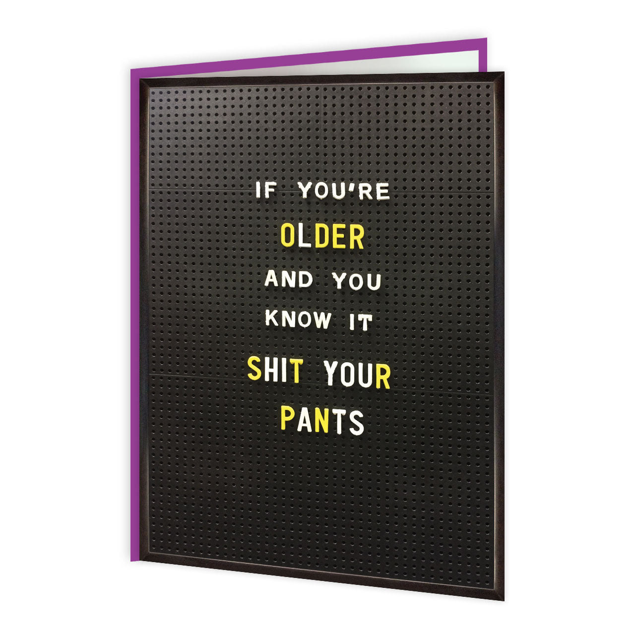 Older And You Know It (Greetings Card)