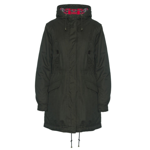 Tobella Ladies Fishtail Parka Coat Jacket - Merc